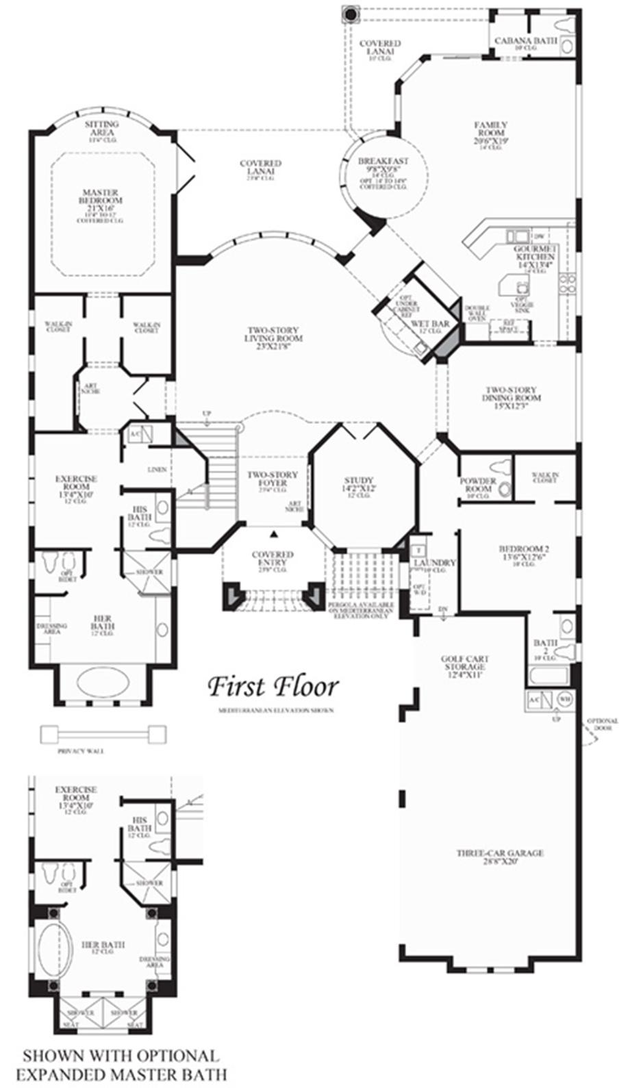 Villa Milano Floor Plan