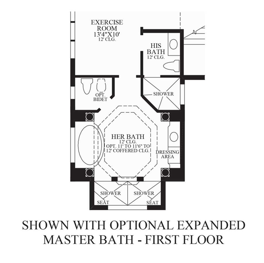 Optional Expanded Master Bath - 1st Floor Floor Plan