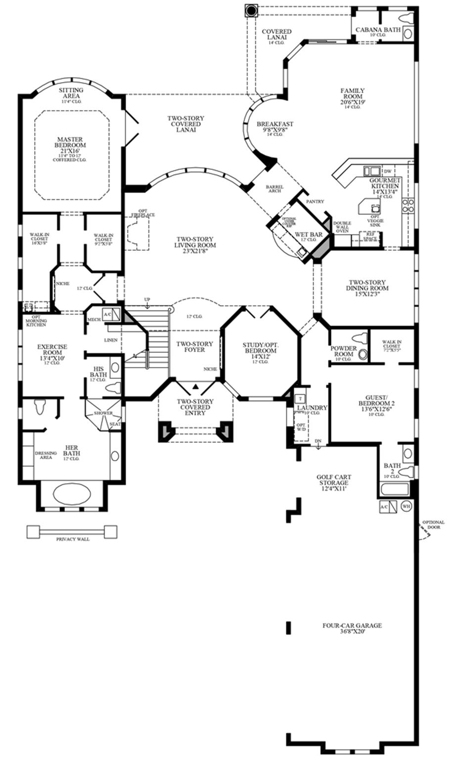 Optional 3-Car Garage Floor Plan