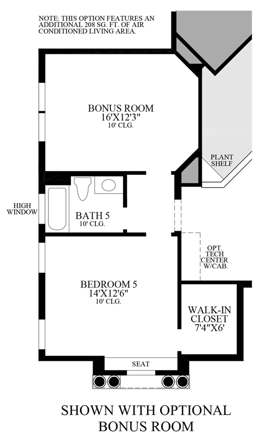 Optional Bonus Room Floor Plan