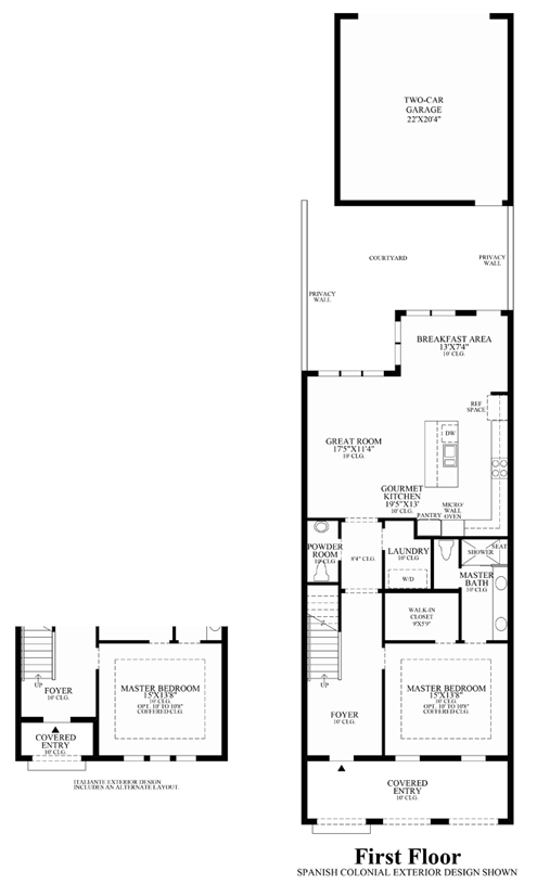 Lakeshore townhomes the cicero home design for Townhomes with first floor master