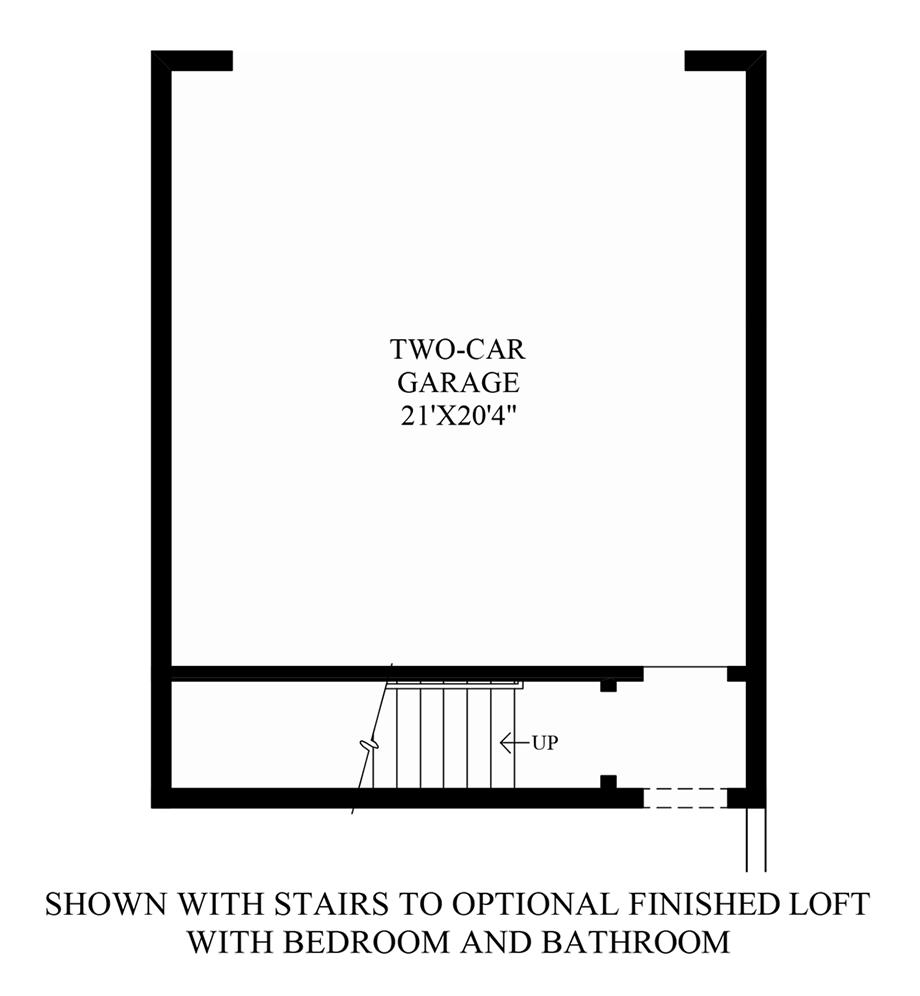Optional Stairs Floor Plan