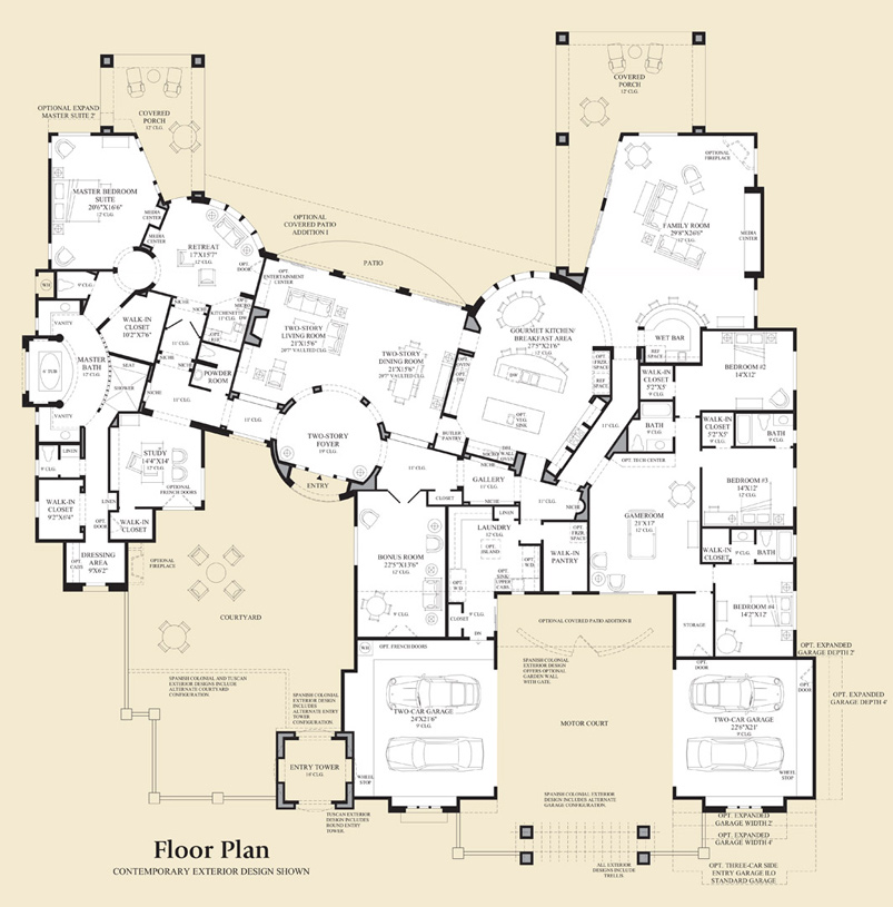 Cadiz on Floor Plan Toll Brothers Scottsdale