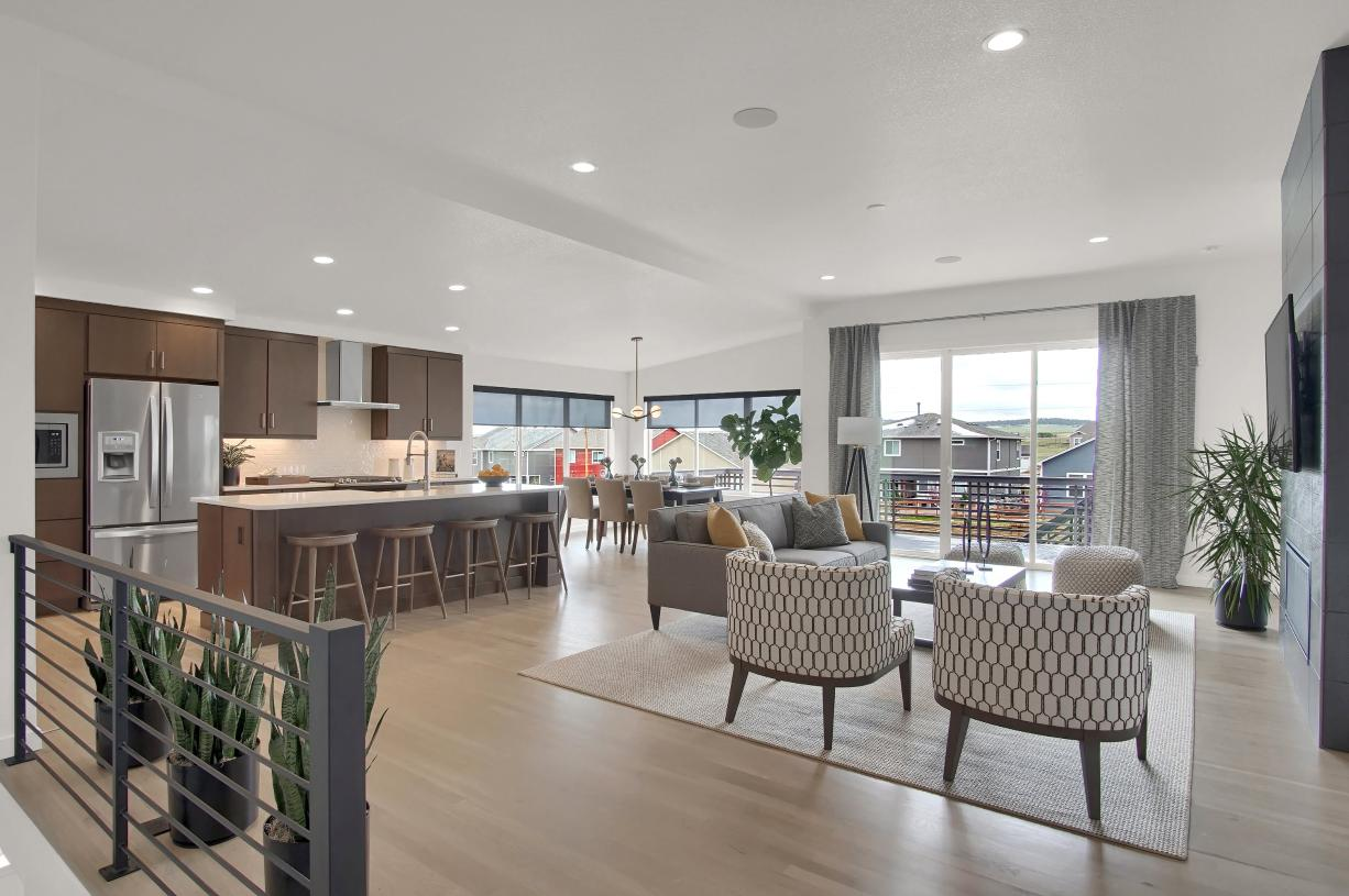 Entertain family and friends with ease in the open main level home design