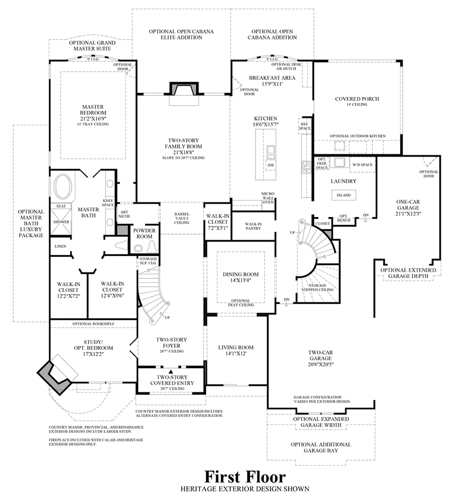 First texas homes renaissance floor plan for Texas house floor plans