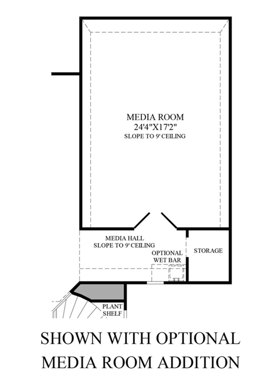 Optional Media Room Addition Floor Plan