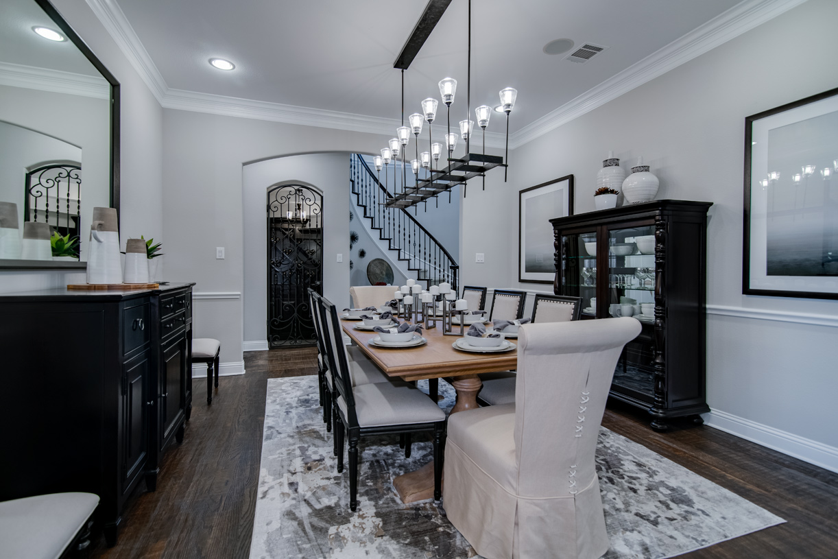 Formal dining room provides a dedicated room for special occasions