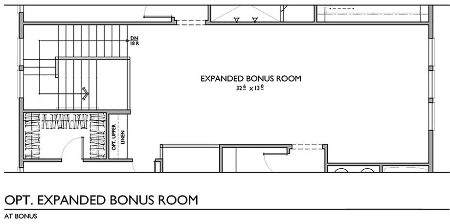 Optional Expanded Bonus Room Floor Plan