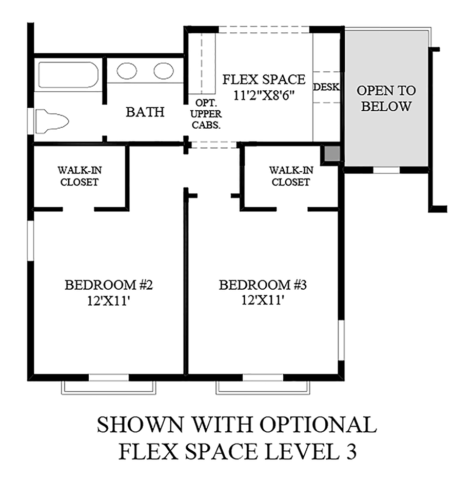 Optional Flex Space Level 3 Floor Plan