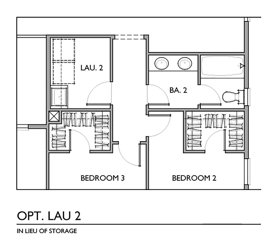 Optional Laundry In Lieu of Storage Floor Plan