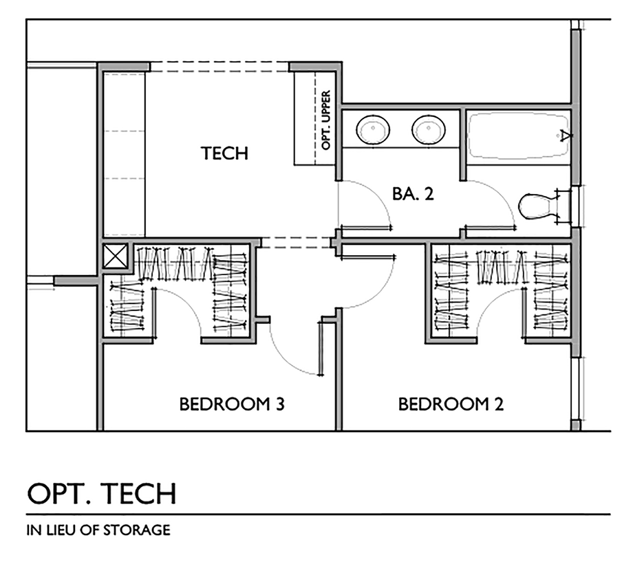 Optional Tech Center In Lieu of Storage Floor Plan