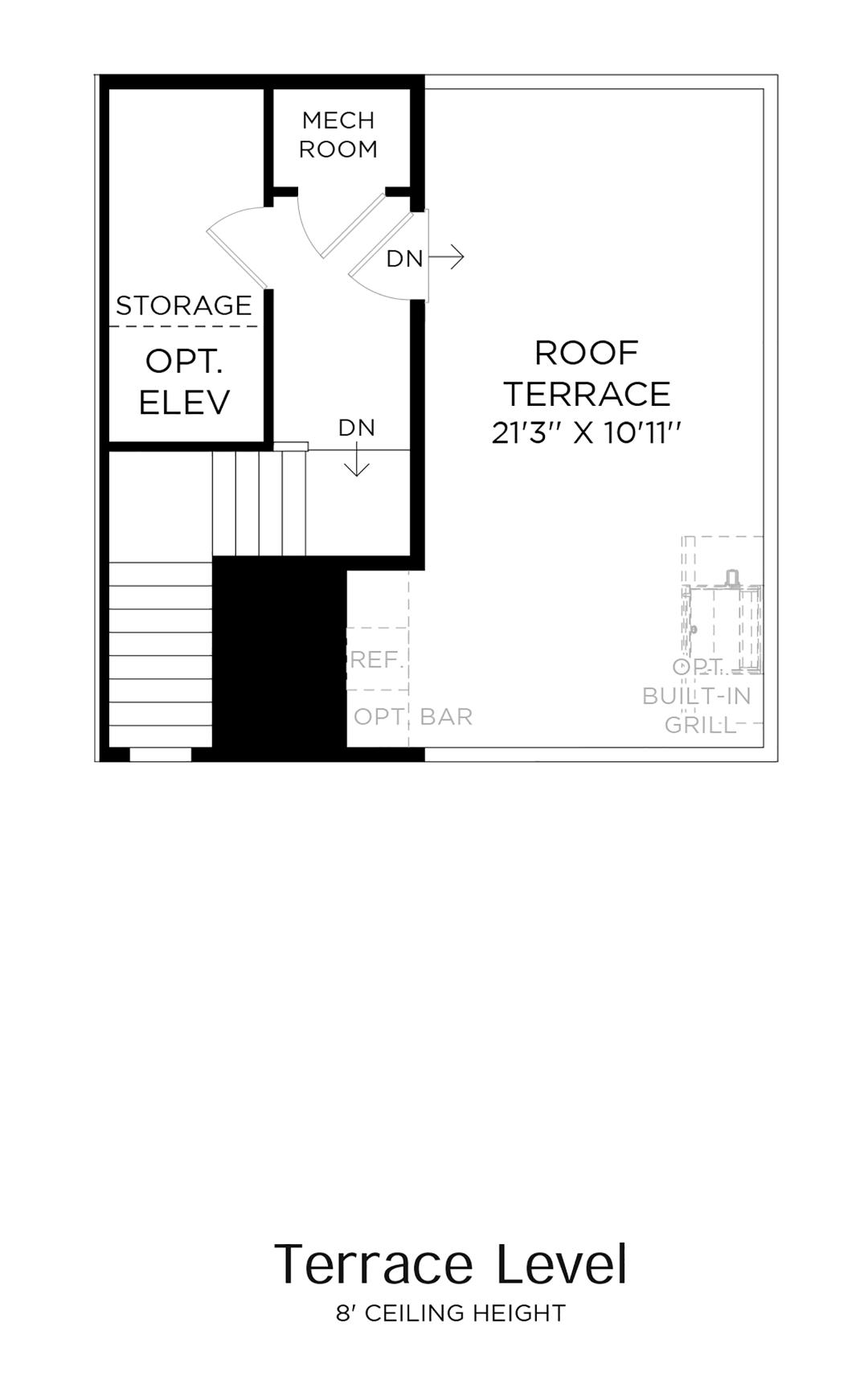 Terrace Level Floor Plan