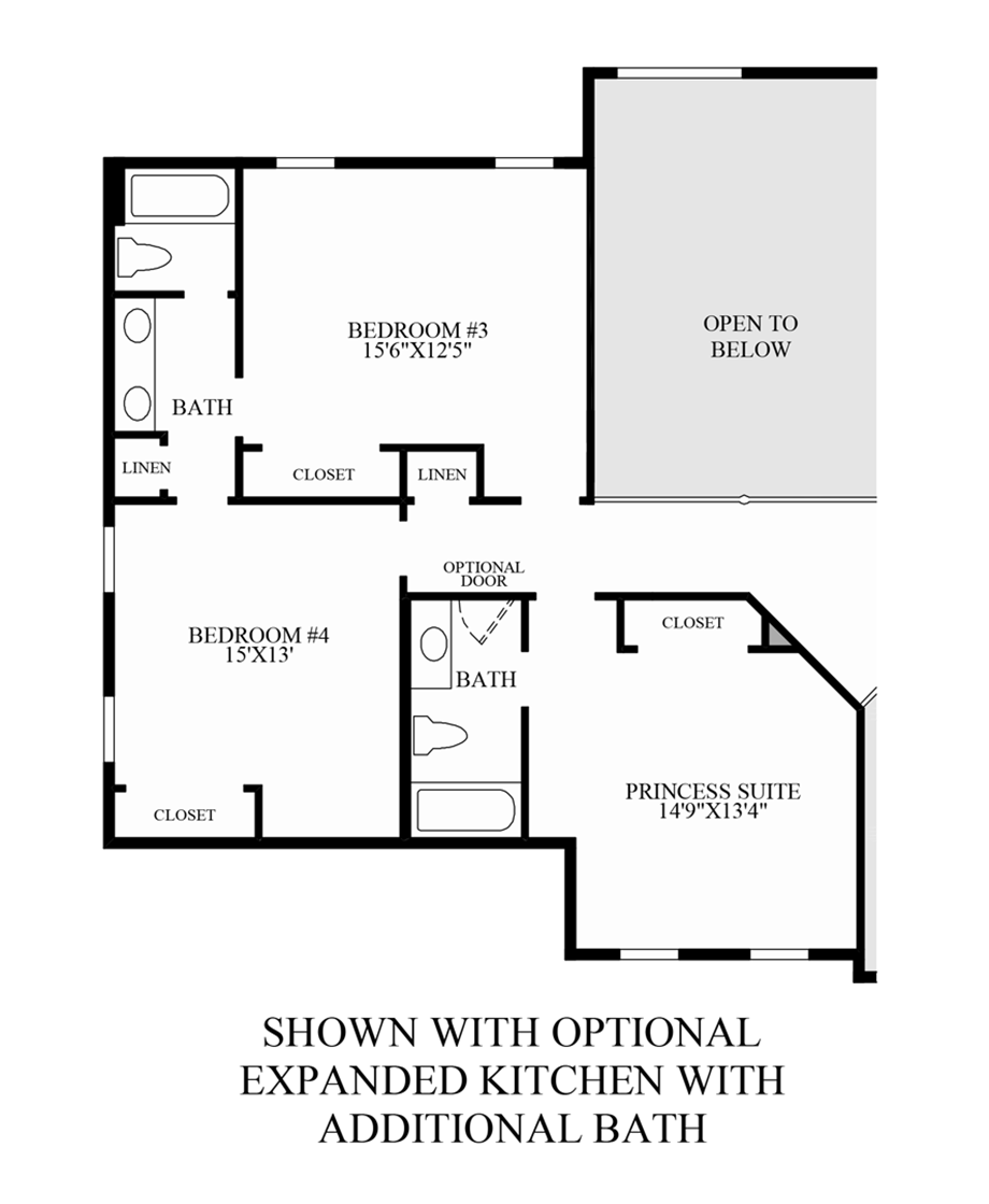 Optional Expanded Kitchen with Additional Bath Floor Plan