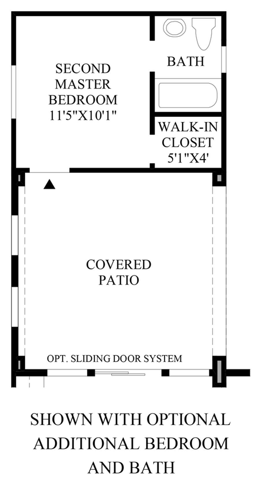 Optional Additional Bedroom & Bath Floor Plan