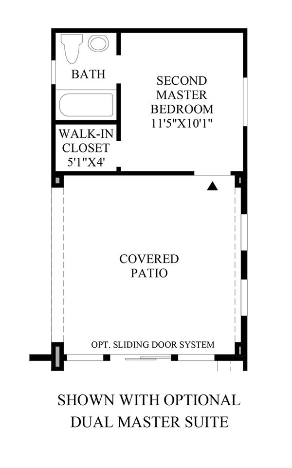 Optional Dual Master Suite