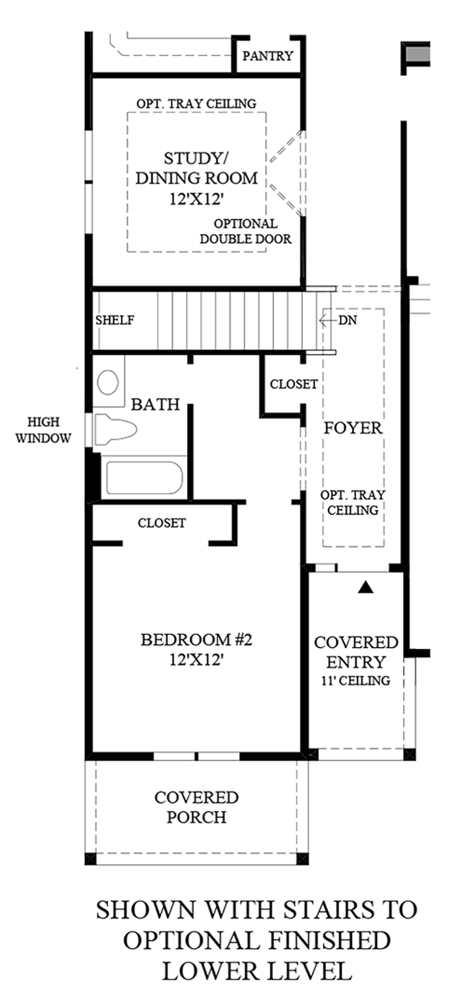 Stairs to Optional Finished Lover Level Floor Plan