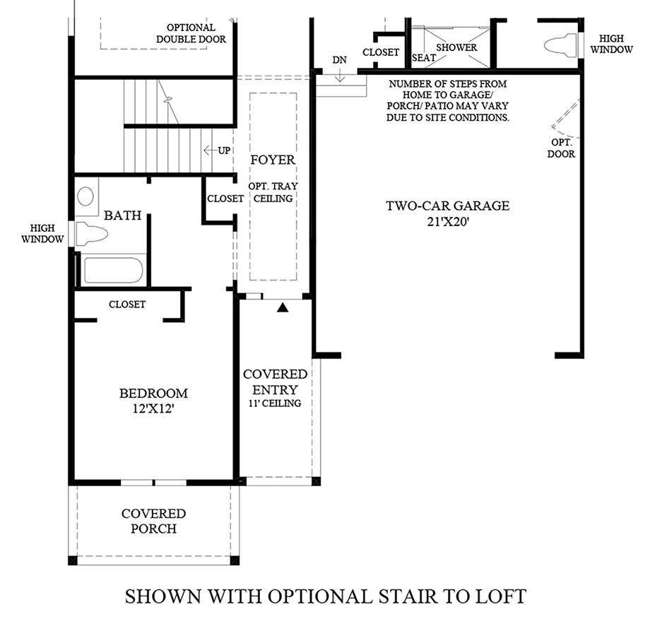 Optional Stair to Loft Floor Plan