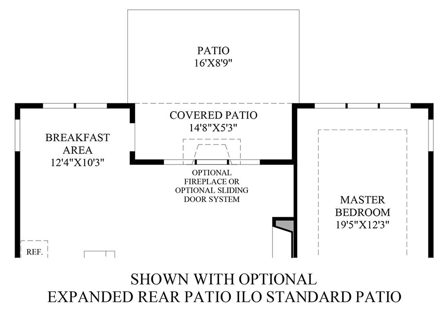 Optional Expanded Rear Patio ILO Standard Patio Floor Plan