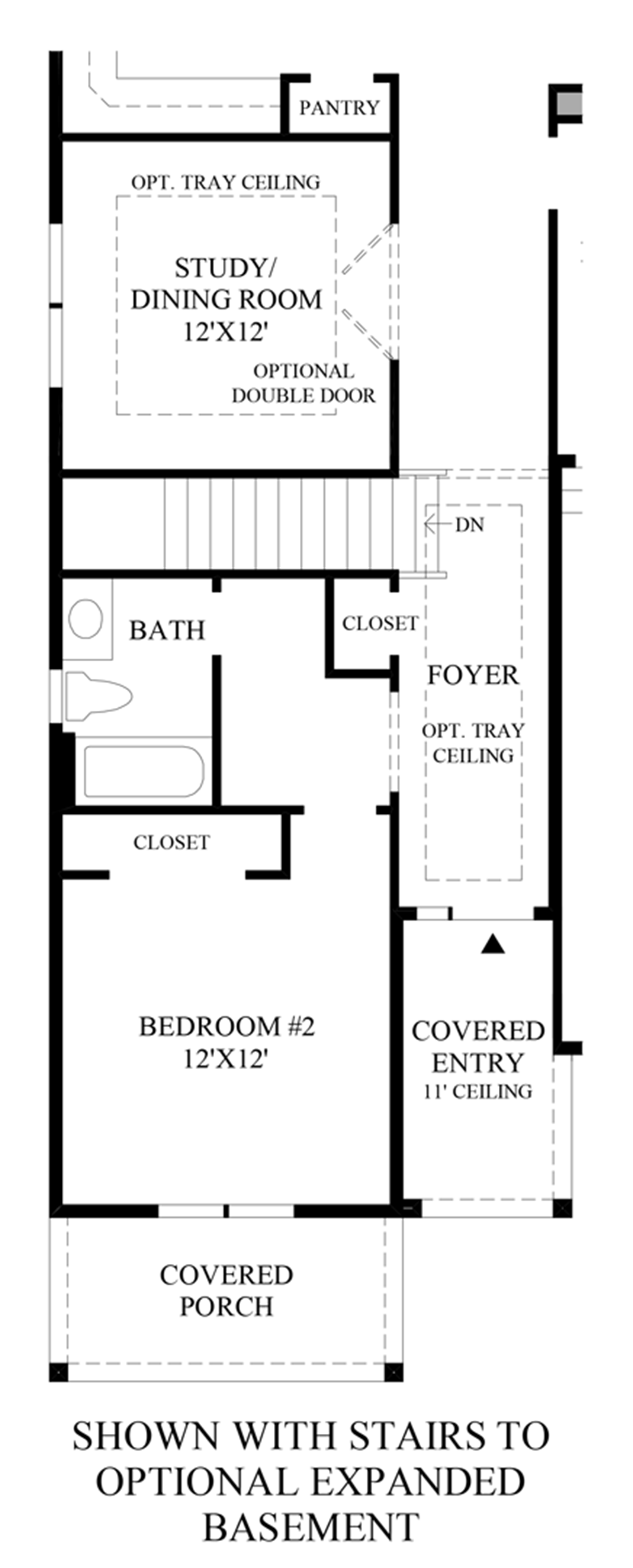 Optional Stairs to Expanded Basement Floor Plan