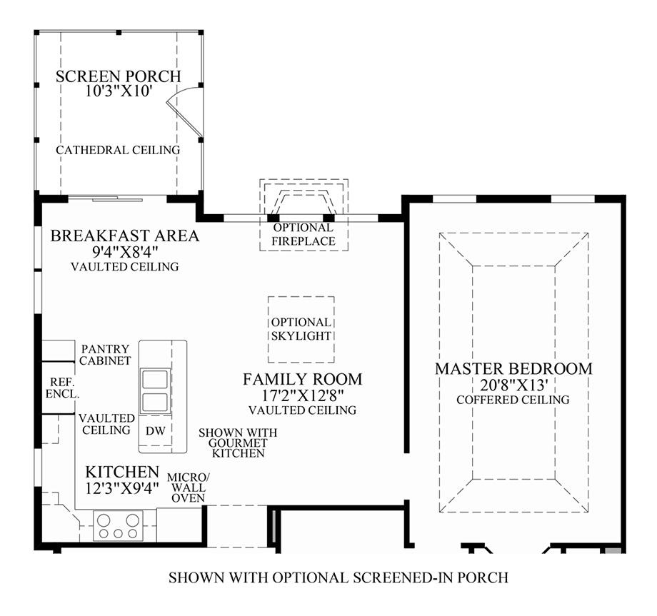 Optional Screened-In Porch Floor Plan