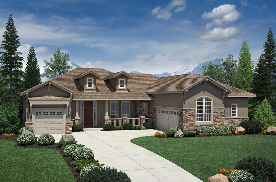 Broomfield co active adult community anthem ranch by for Ranch house elevations