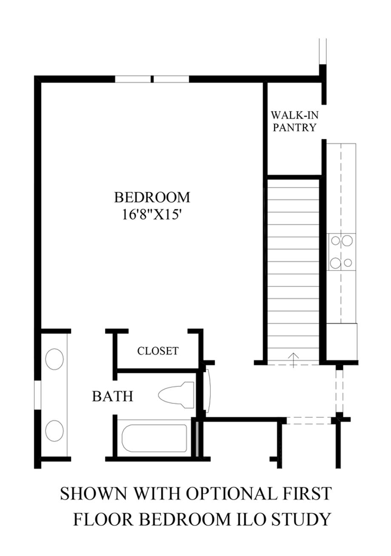 Optional First Floor Bedroom ILO Study Floor Plan