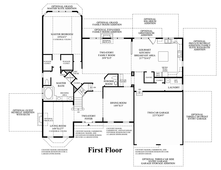 Waterford ii at dominion valley country club executives Dominion homes floor plans