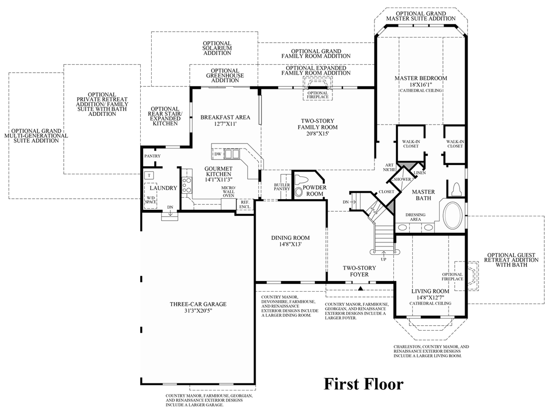 Toll Brothers Floor Plans Virginia: Lenah Mill - The Executives
