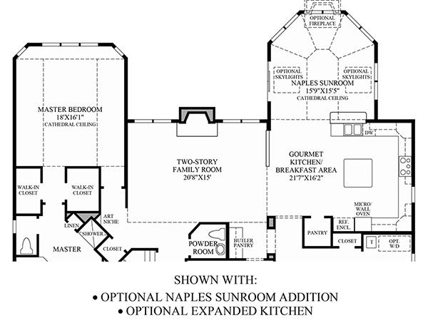 Optional Naples Sunroom/Expanded Kitchen