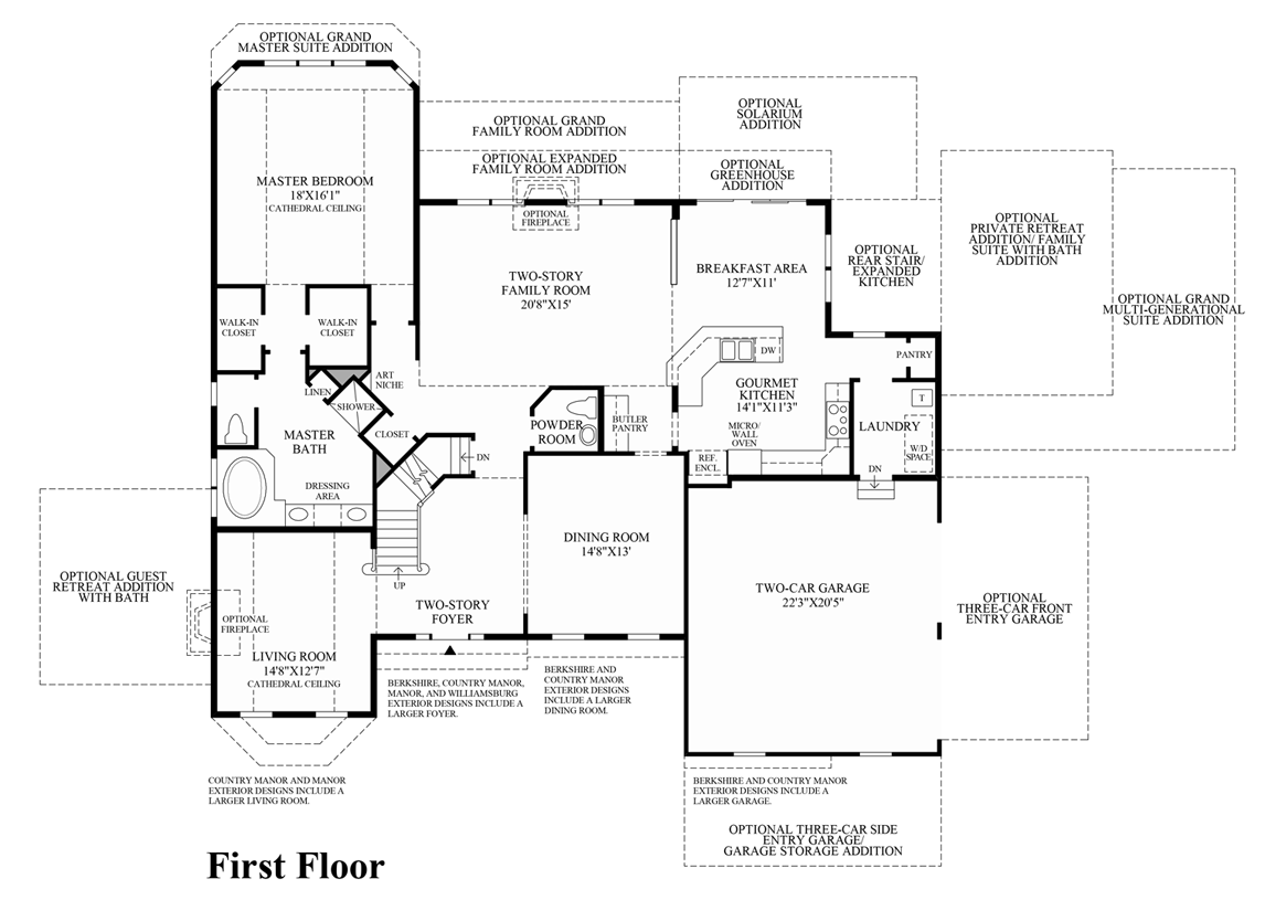parkview at warrington the harding home design view floor plans