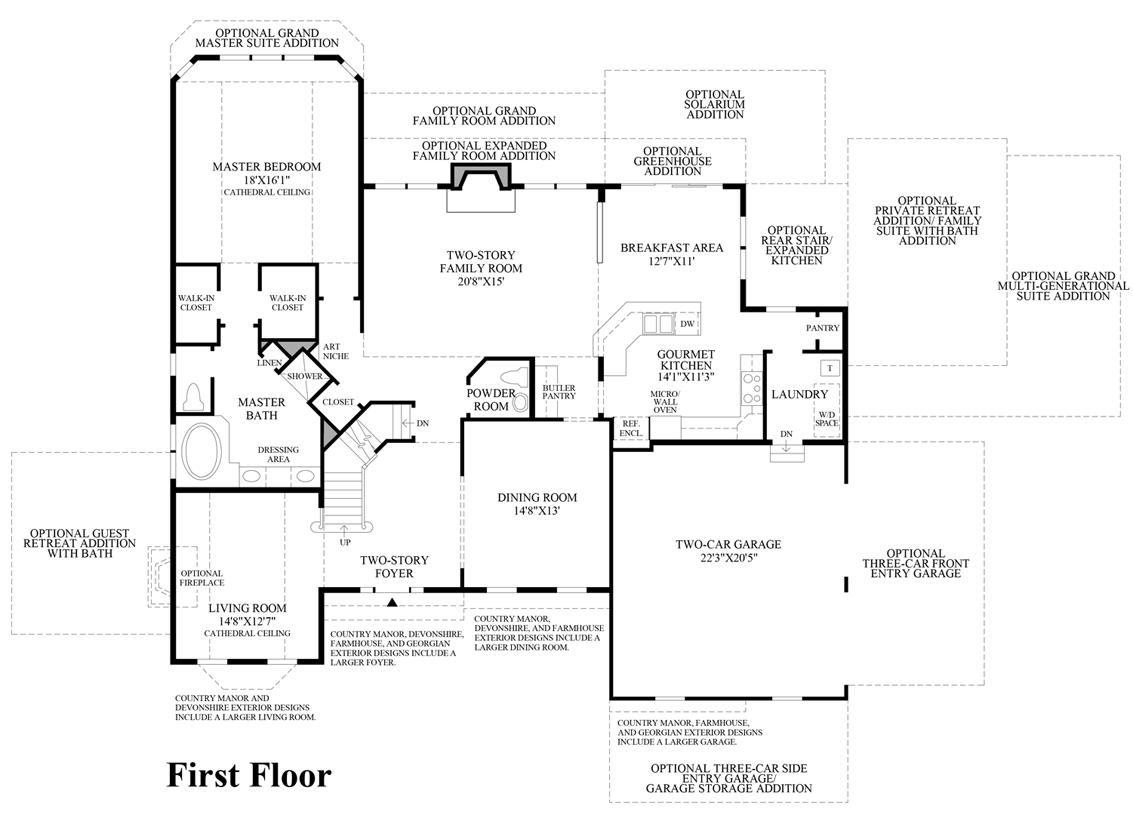 summit estates at westchester the hampton home design view floor plans