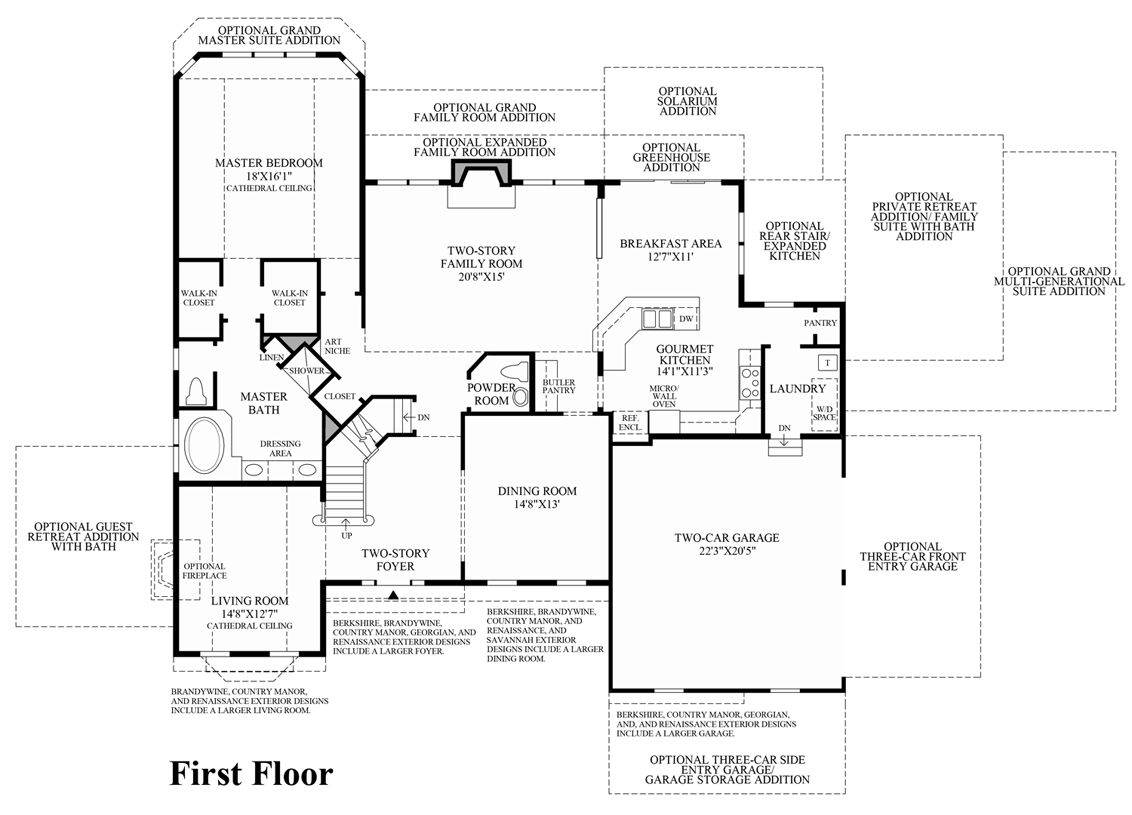 First texas homes renaissance floor plan for Texas home floor plans