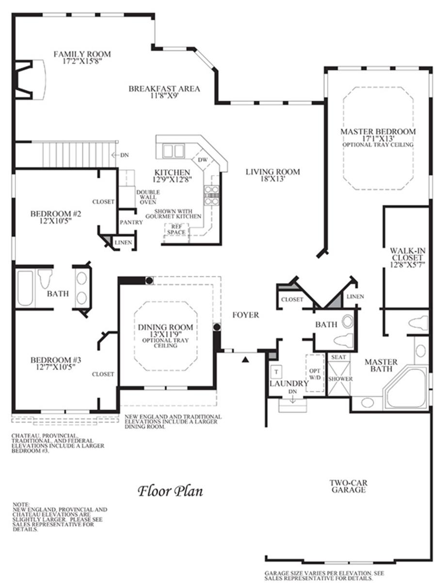 Floor plan floor plan for Barrington floor plan