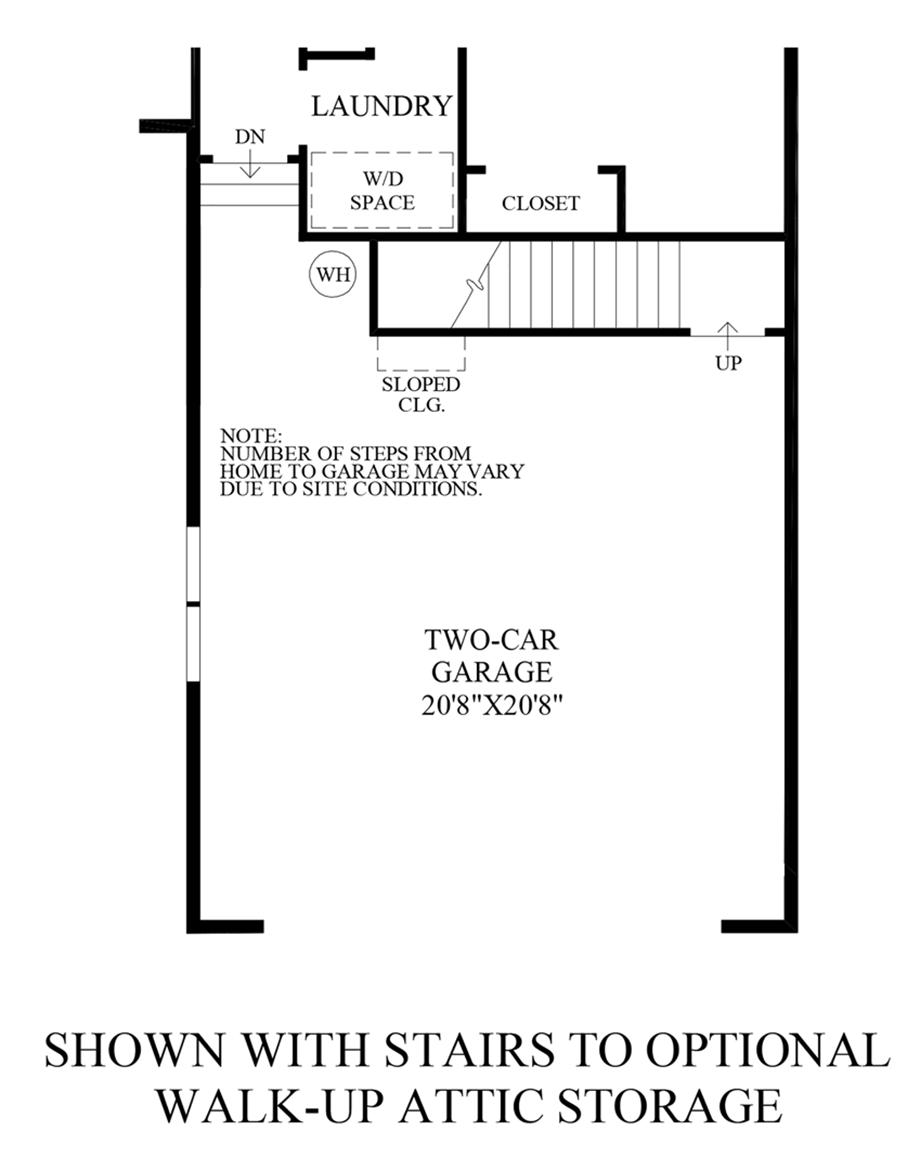 Optional Walk-Up Attic Storage