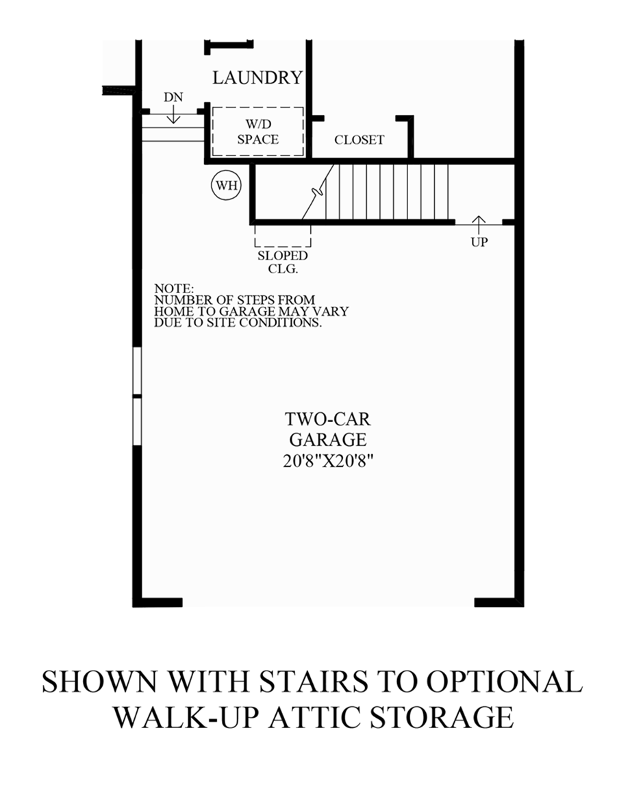 Stairs to Optional Walk-Up Attic Storage