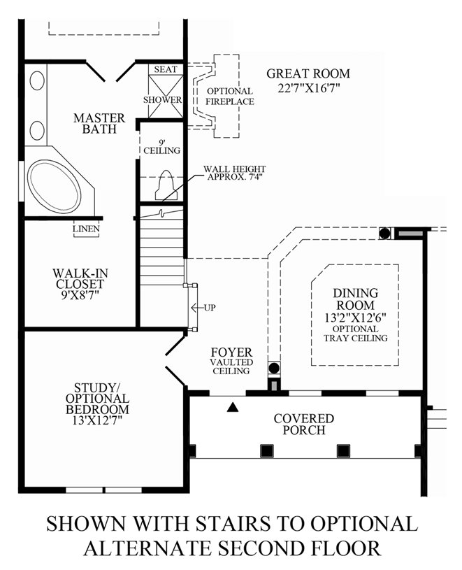 Regency at palisades the waverly model - Stairs to second floor design ...