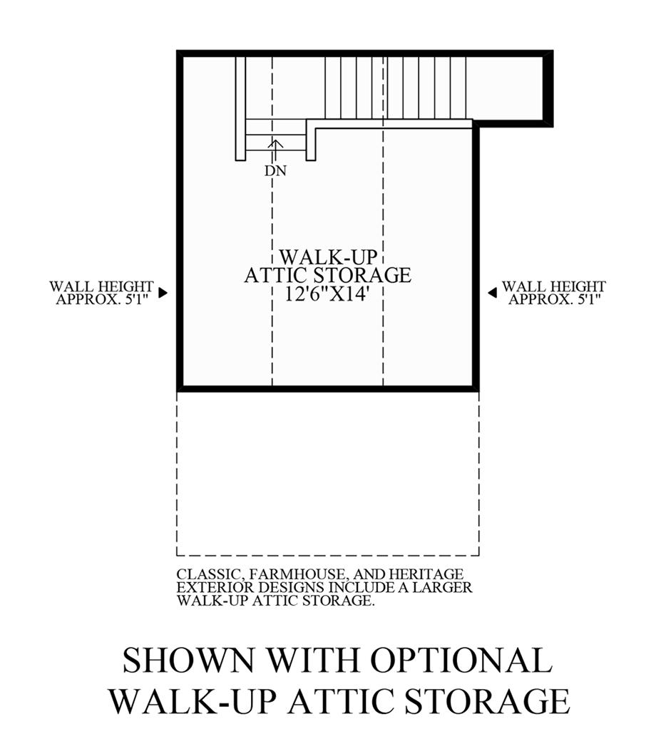 Optional Walk-Up Attic Storage