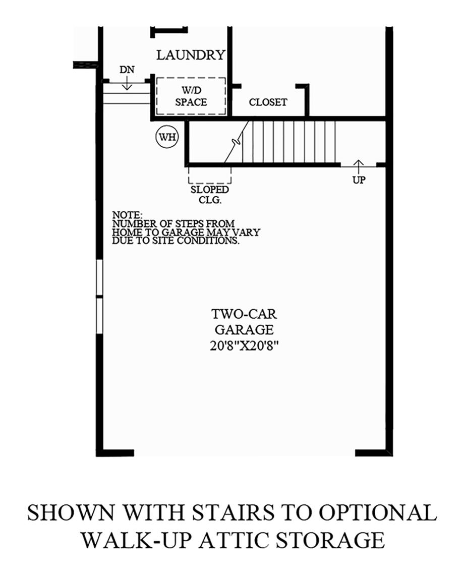 Stairs to Optional Walk-Up Attic Storage