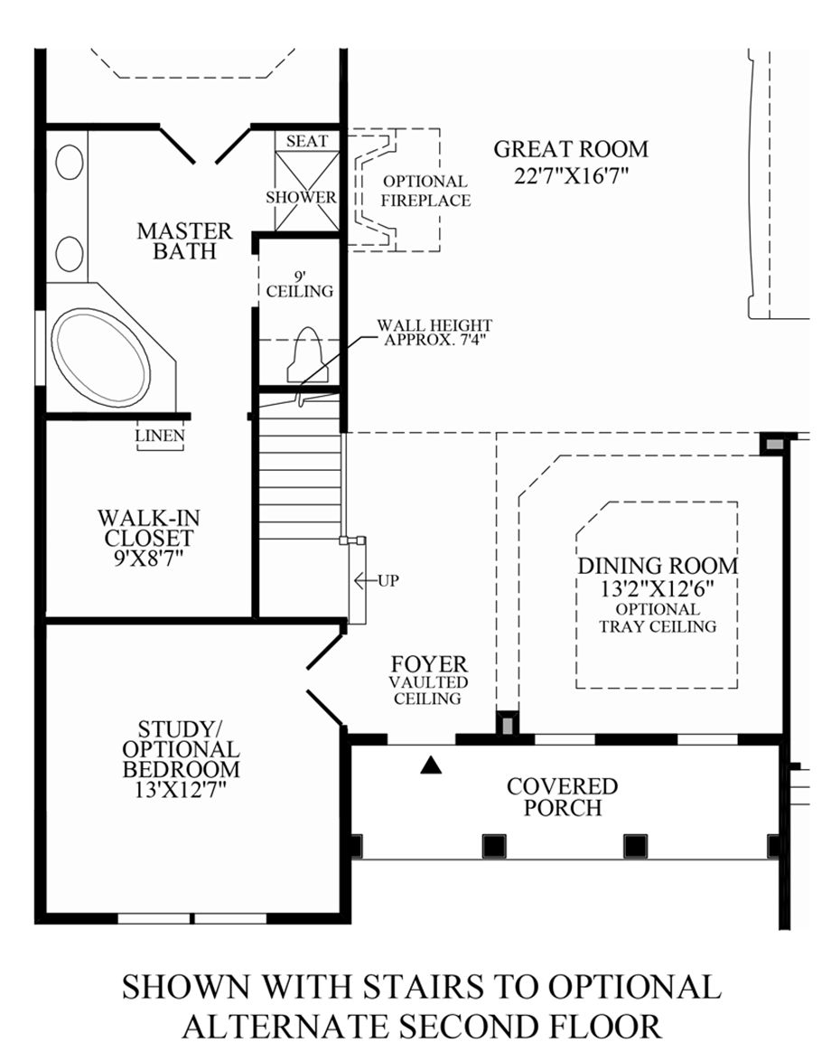 Optional Stairs to Alternate 2nd Floor Floor Plan