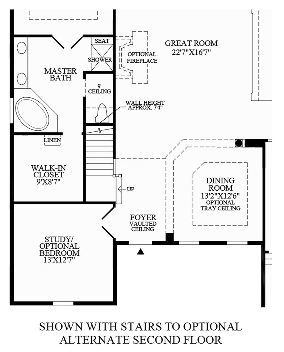 Optional Stairs to Alternate 2nd Floor Floor Plan