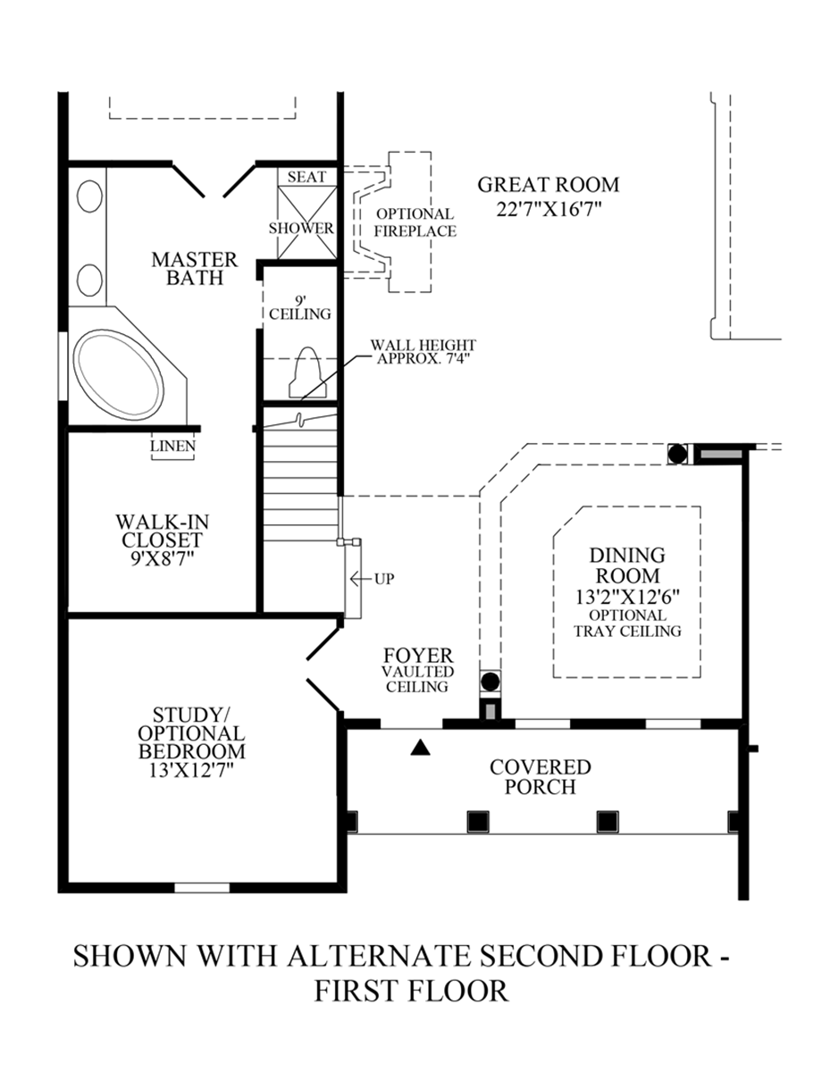 Optional Alternate 2nd Floor (1st Floor) Floor Plan