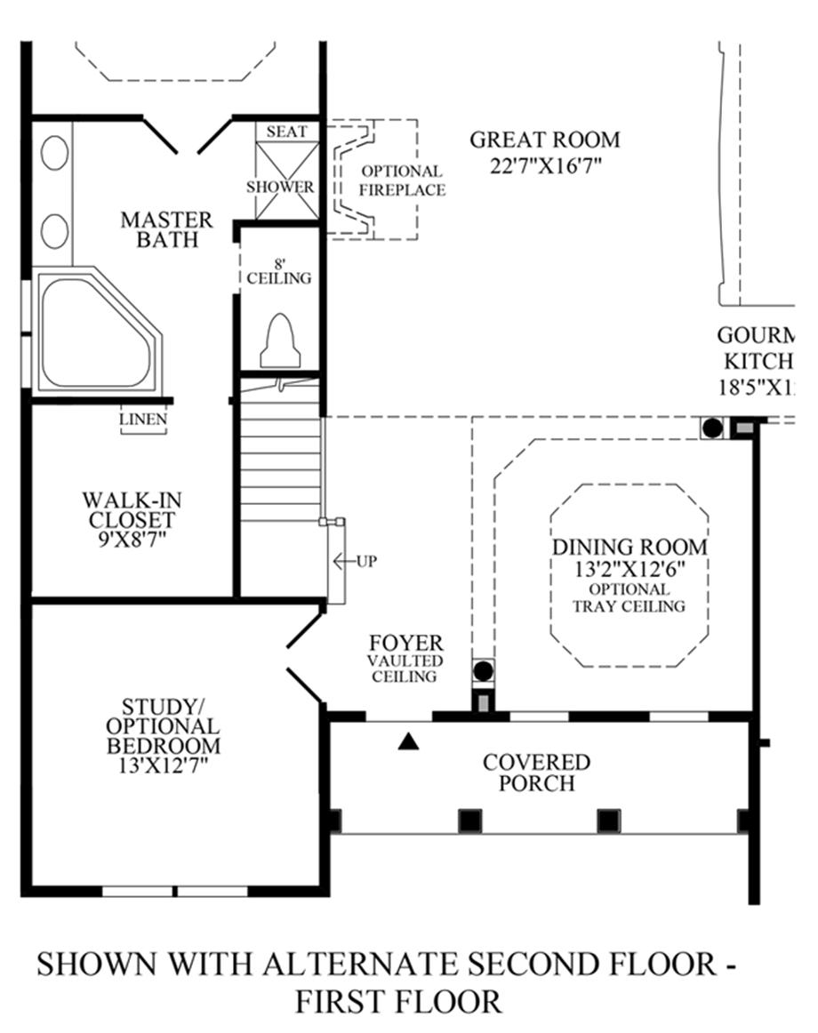 Optional Alternate 2nd Floor - 1st Floor Floor Plan