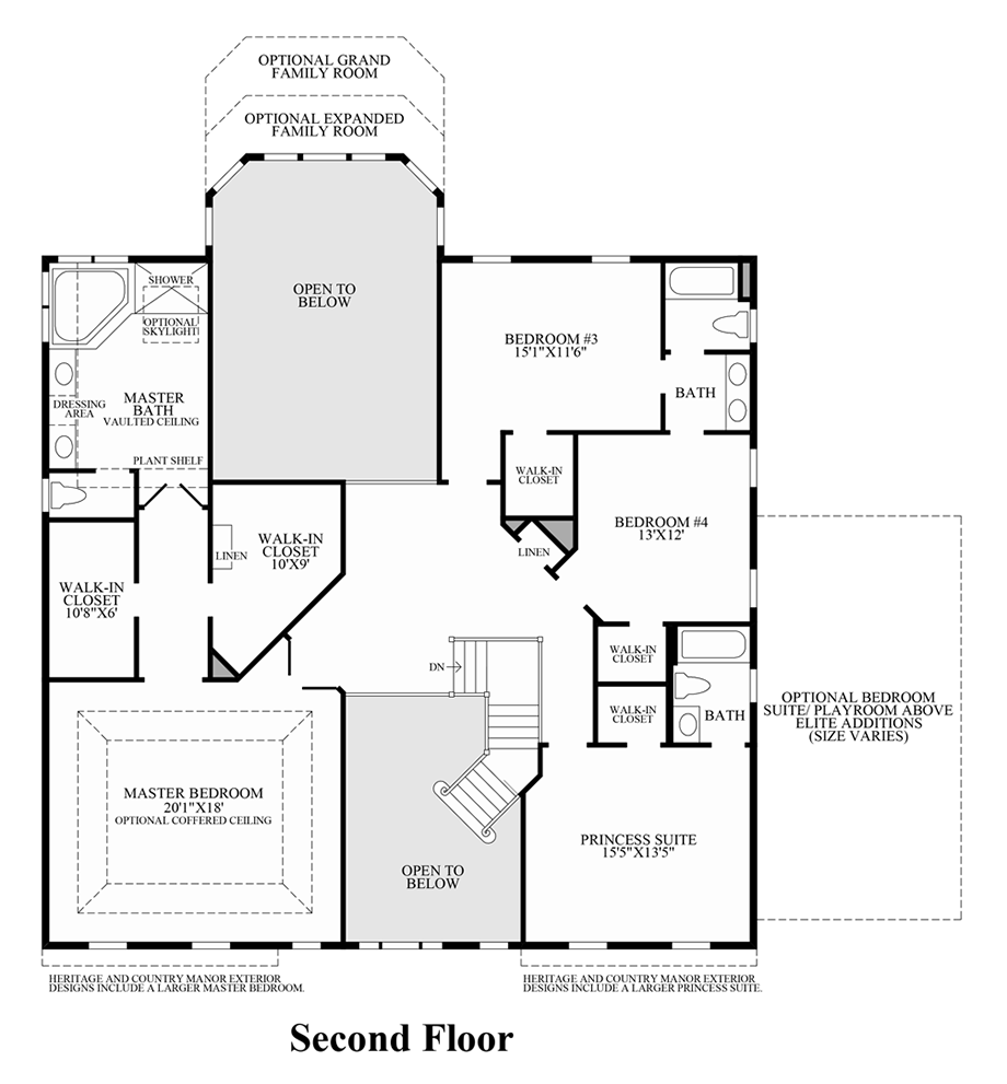 Toll brothers at oak creek the wayne home design for Wayne homes floor plans