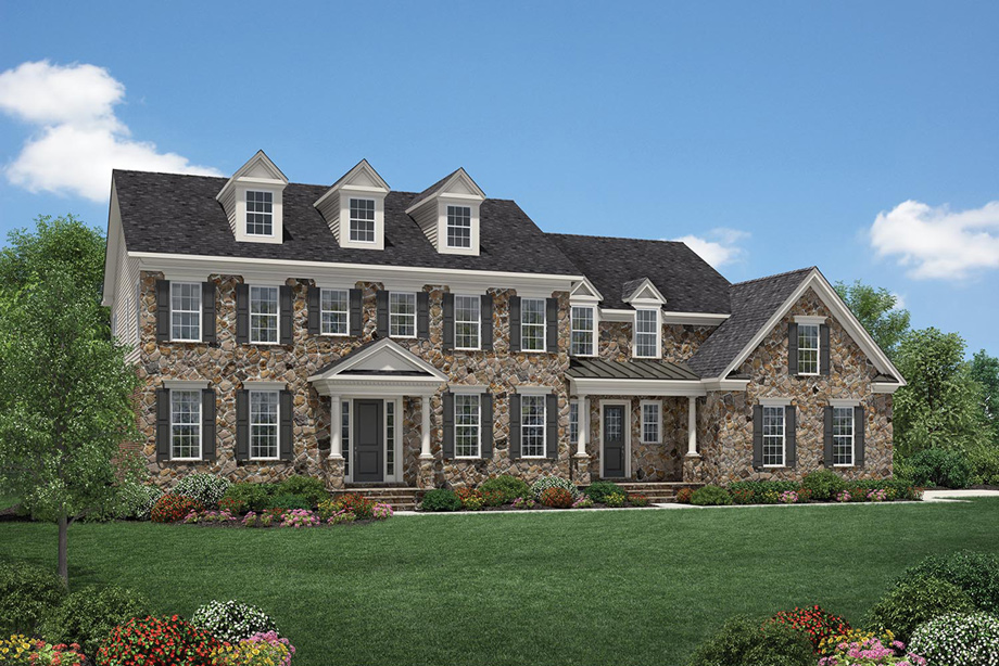 Toll brothers at montcaret the milverton home design for Luxury home models