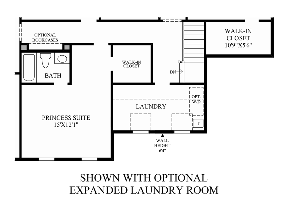 Optional Expanded Laundry Room Floor Plan
