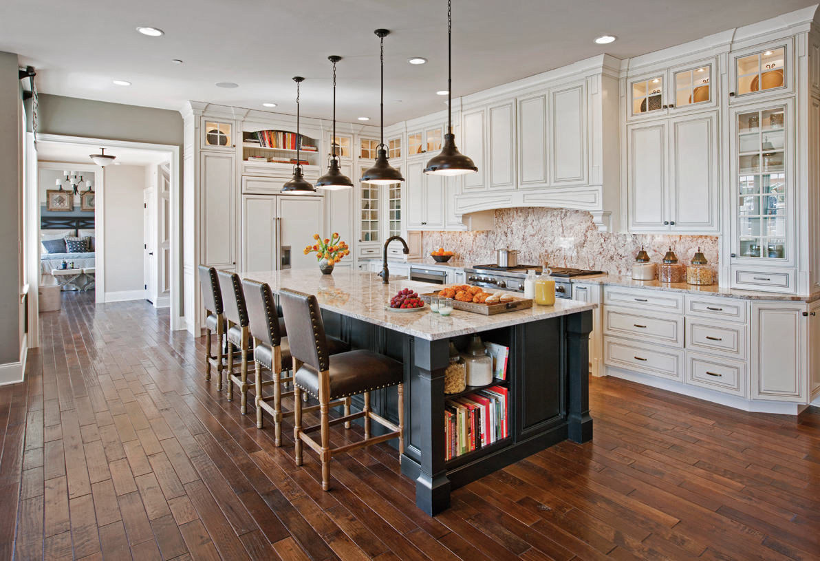 Gorgeous kitchen with large island and walk-in pantry