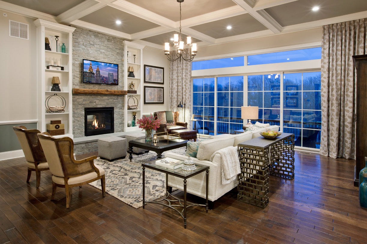 Great room designs with scenic views