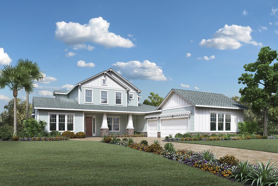 Coastal oaks at nocatee estate signature collections for Craftsman homes for sale in florida