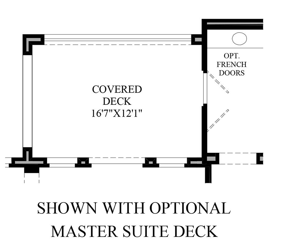 Optional Master Suite Deck Floor Plan