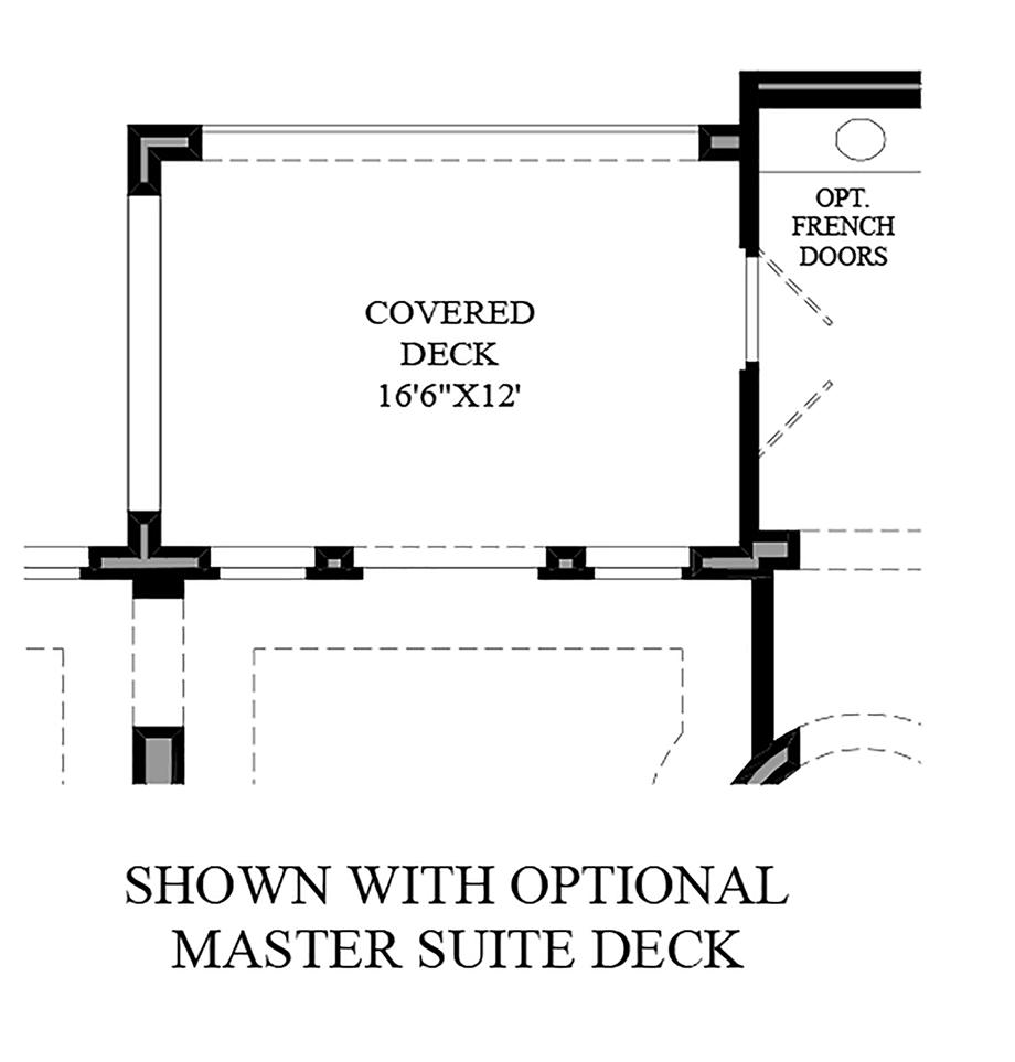 Optional Master Suite Deck